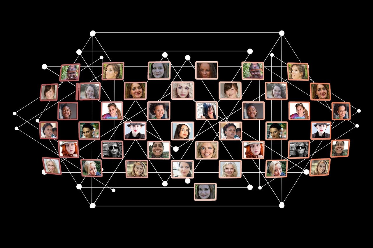 women, network, faces